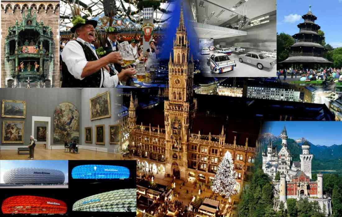 السياحة في ميونخ ألمانيا كولاج