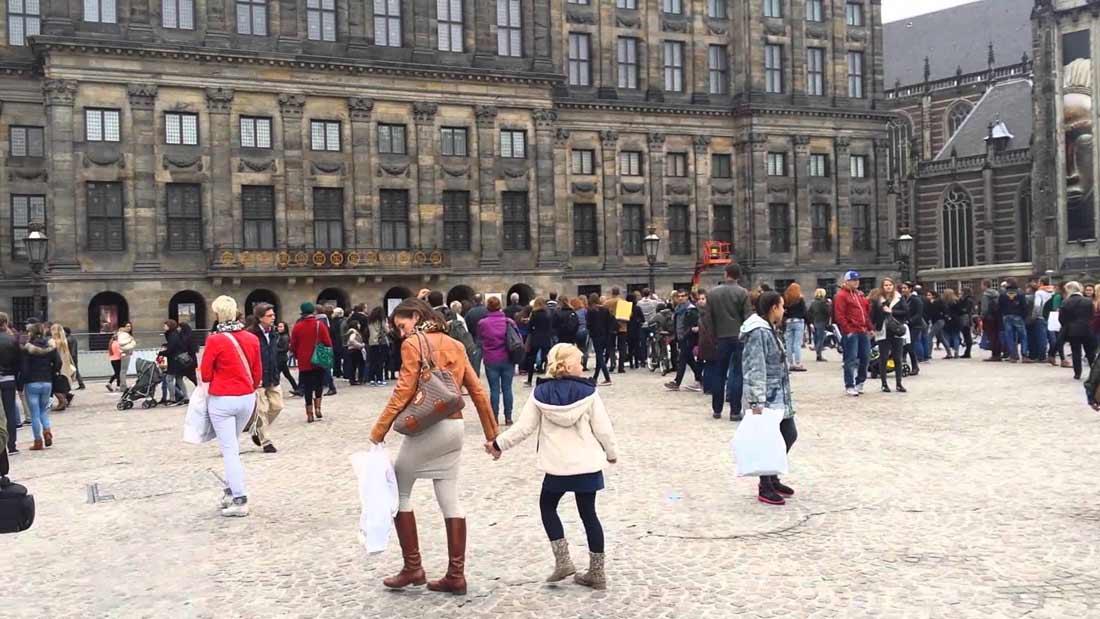ساحة دام سكوير أمستردام.