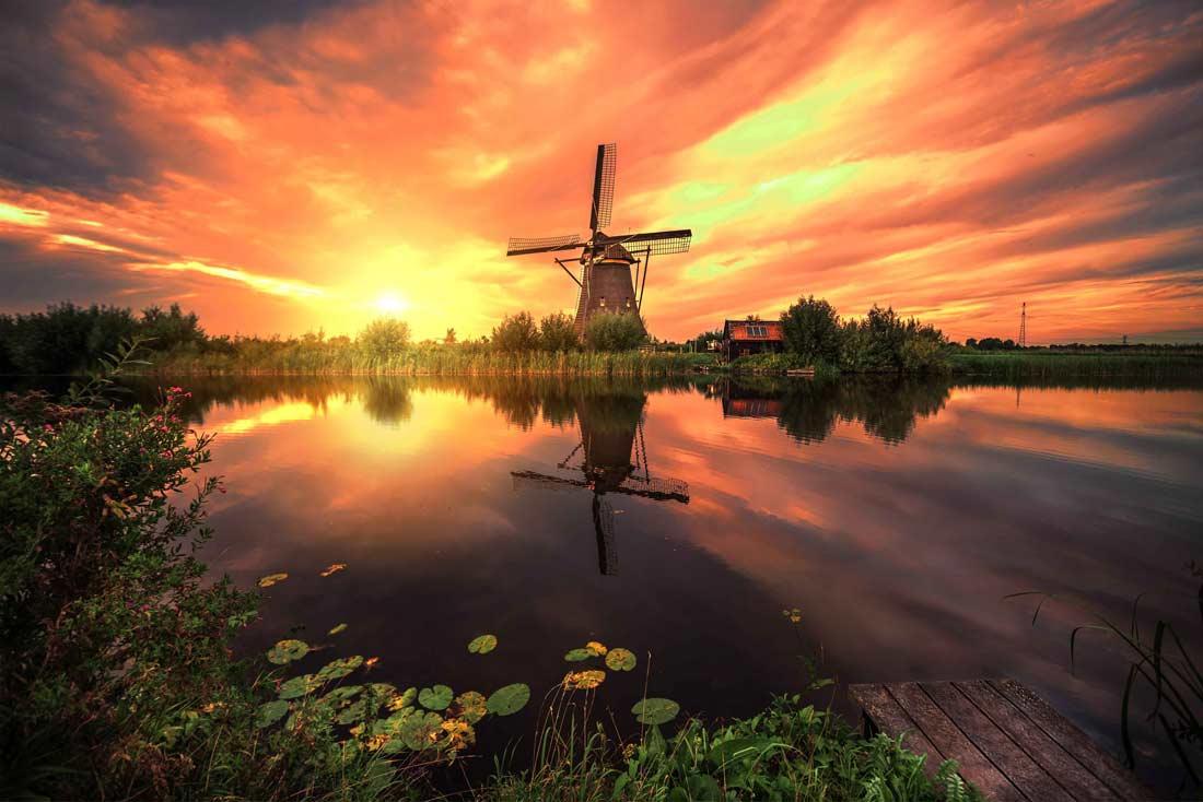 منطقة كينديرديجك في هولندا.