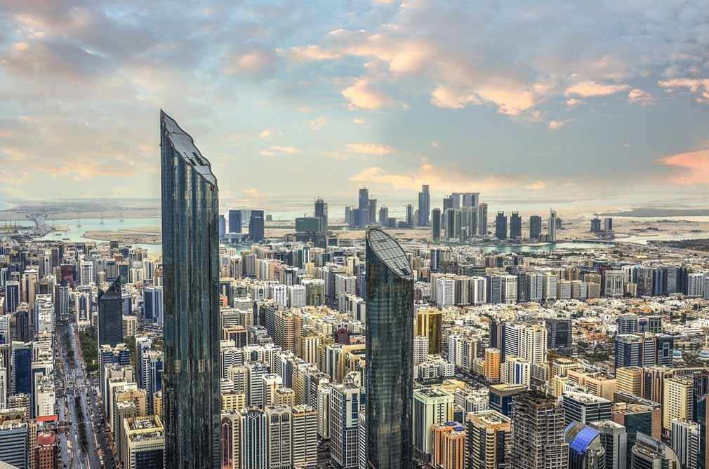 مدينة أبو ظبي عاصمة الإمارات.