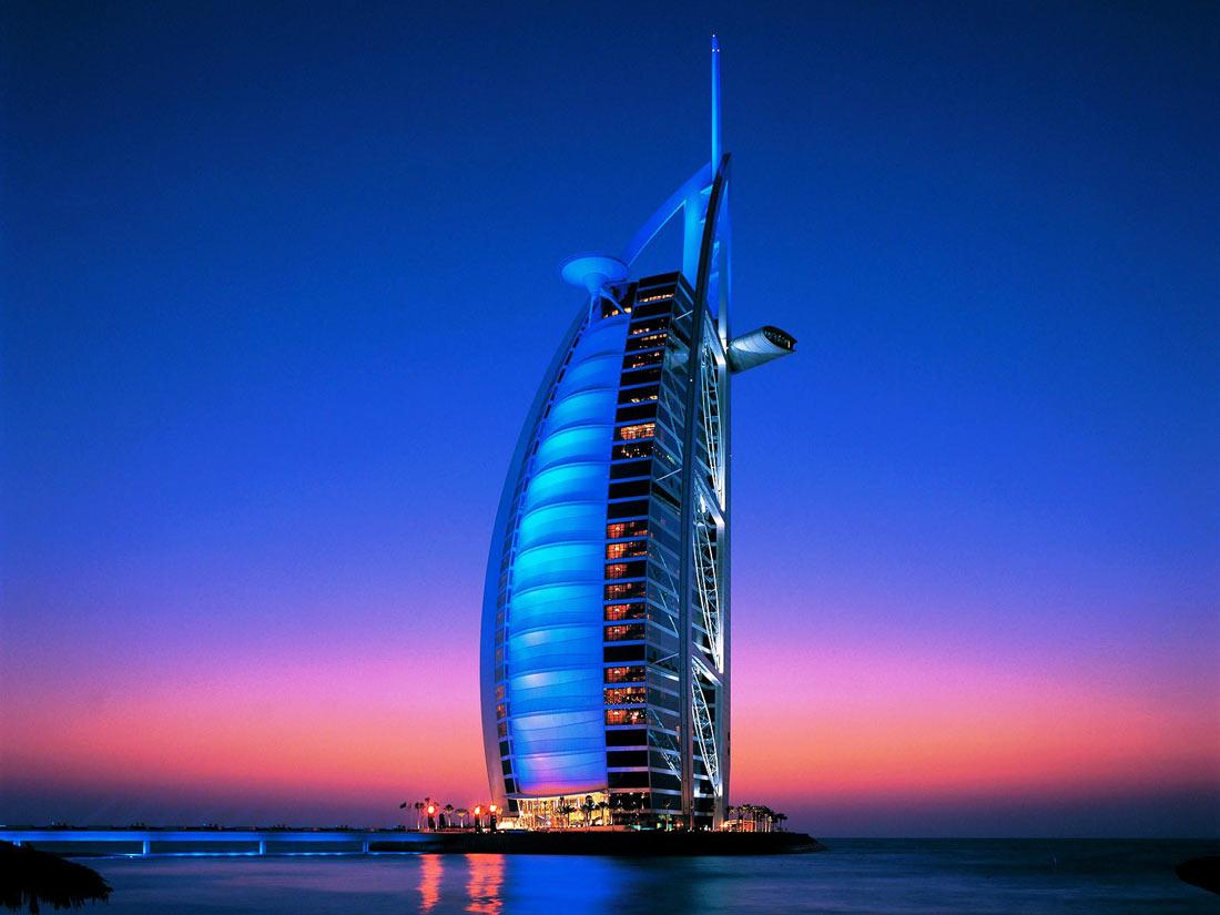 فندق برج العرب في دبي.