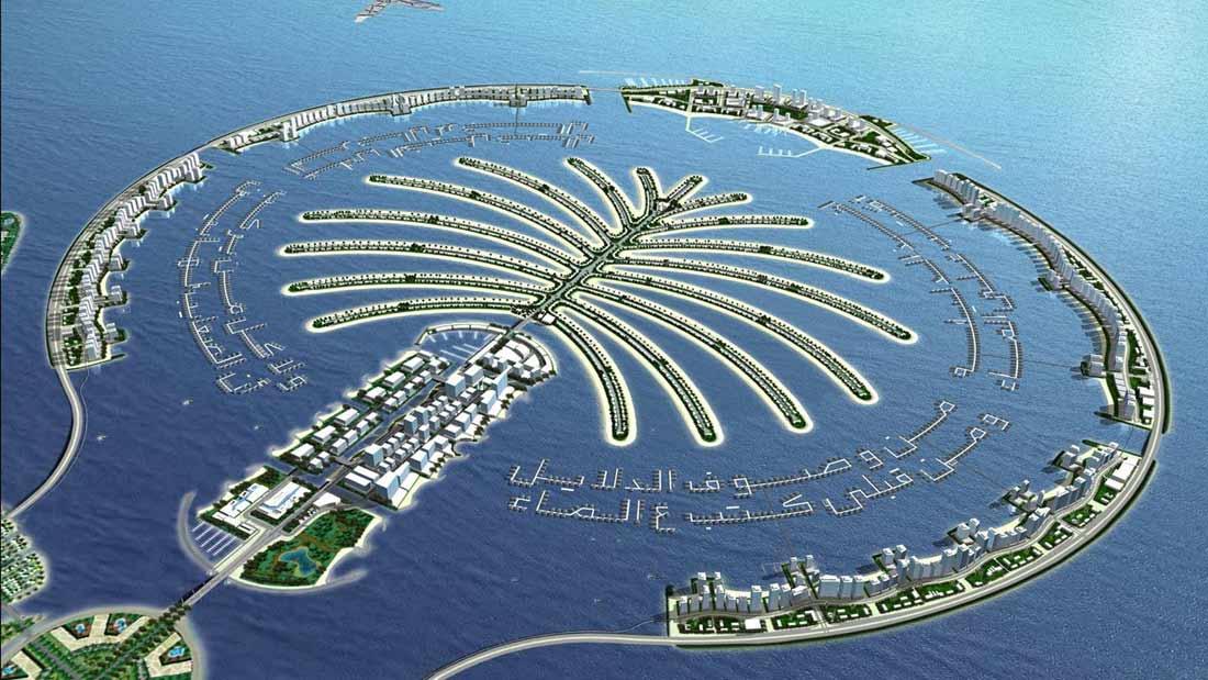 جزر النخيل في مدينة دبي.