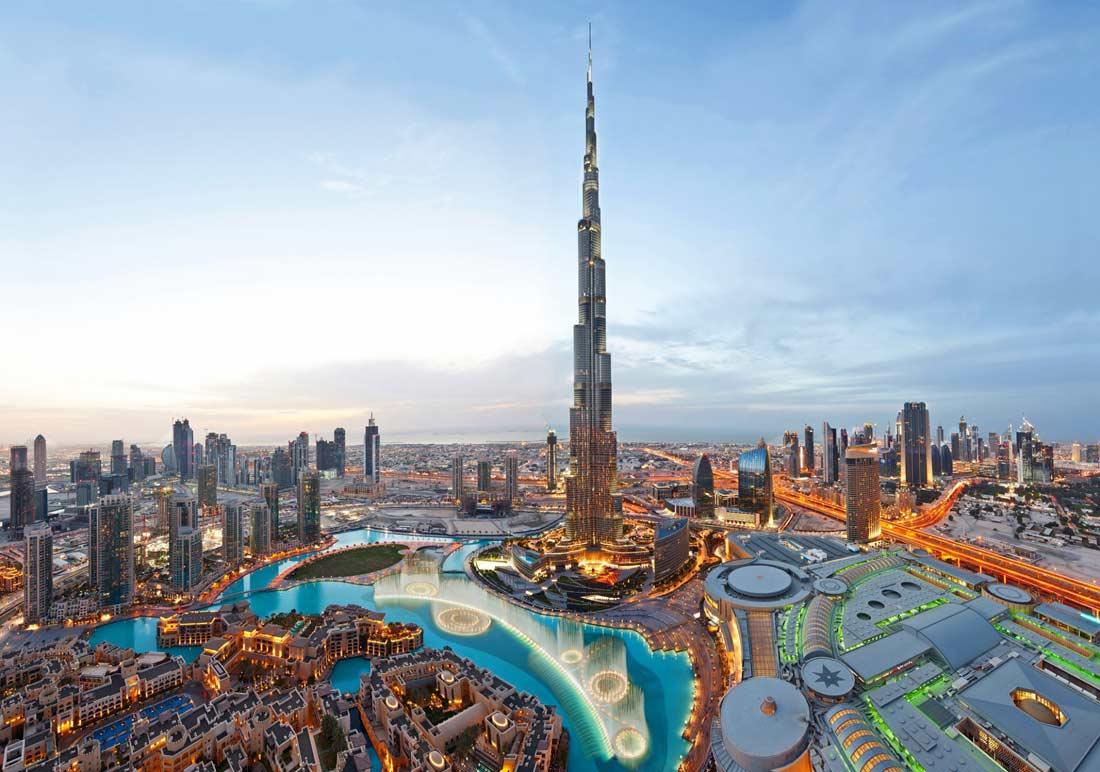 برج خليفة في مدينة دبي.