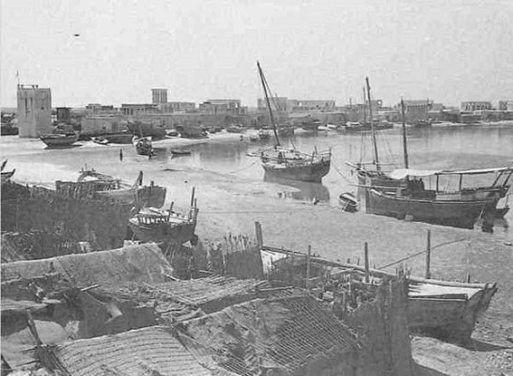 ميناء الخور القديم في دبي.