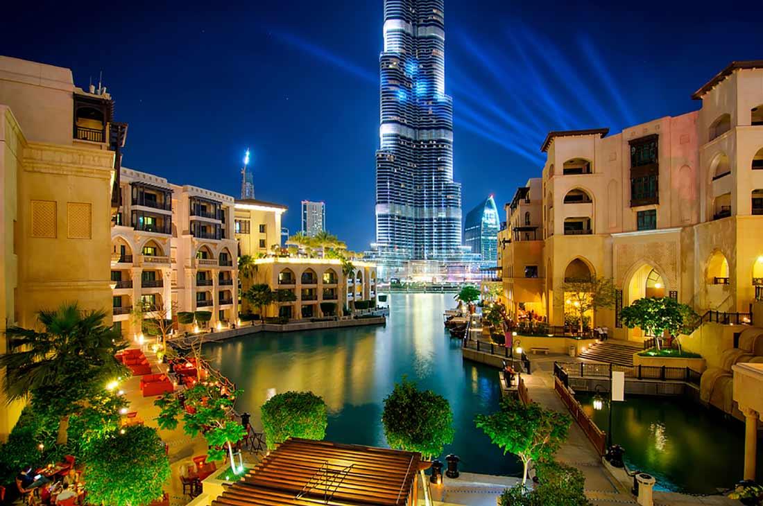 أحد أحياء مدينة دبي.