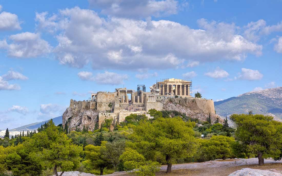 الأكروبوليس في أثينا.