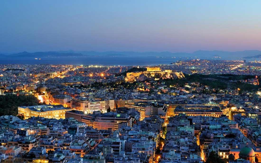 مدينة أثينا عاصمة اليونان.