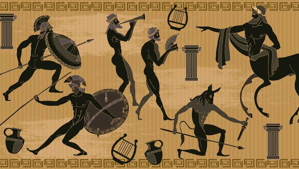 لوحة ثورة الغضب، إحدى الأساطير اليونانية القديمة.