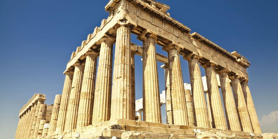 معبد بارثينون أثينا.