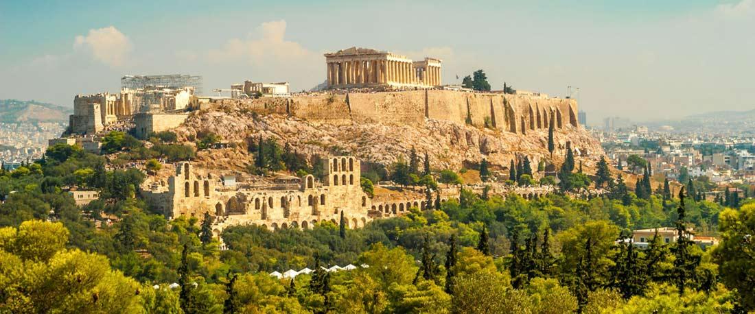 هضبة أكروبوليس في مدينة أثينا.