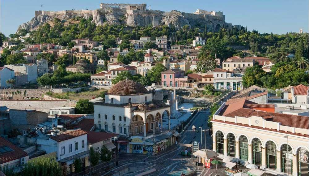 حي بلاكا في مدينة أثينا.