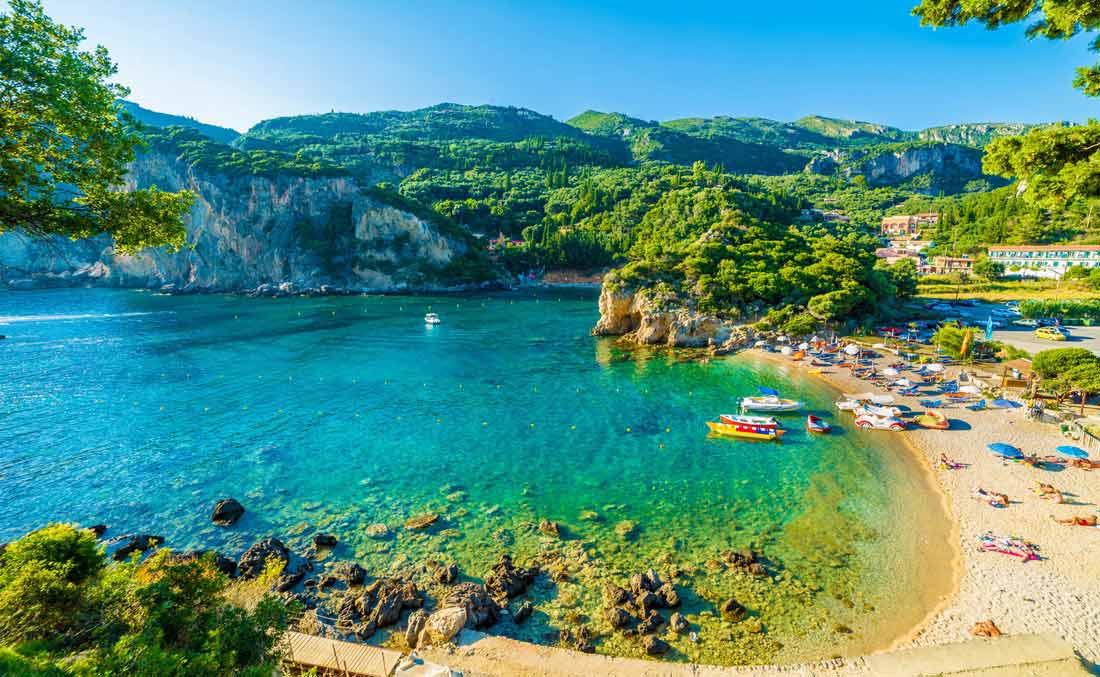 جزيرة كورفو اليونانية.