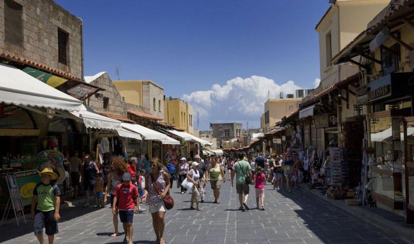 جزيرة رودس تتحق الأحلام اليونانية famous-Socrates-stre