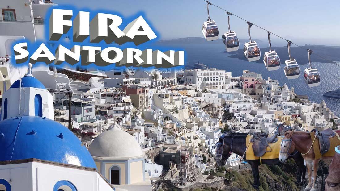 مدينة فيرا عاصمة جزيرة سانتوريني اليونانية.