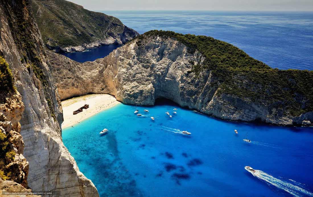 جزيرة زاكينثوس اليونانية.