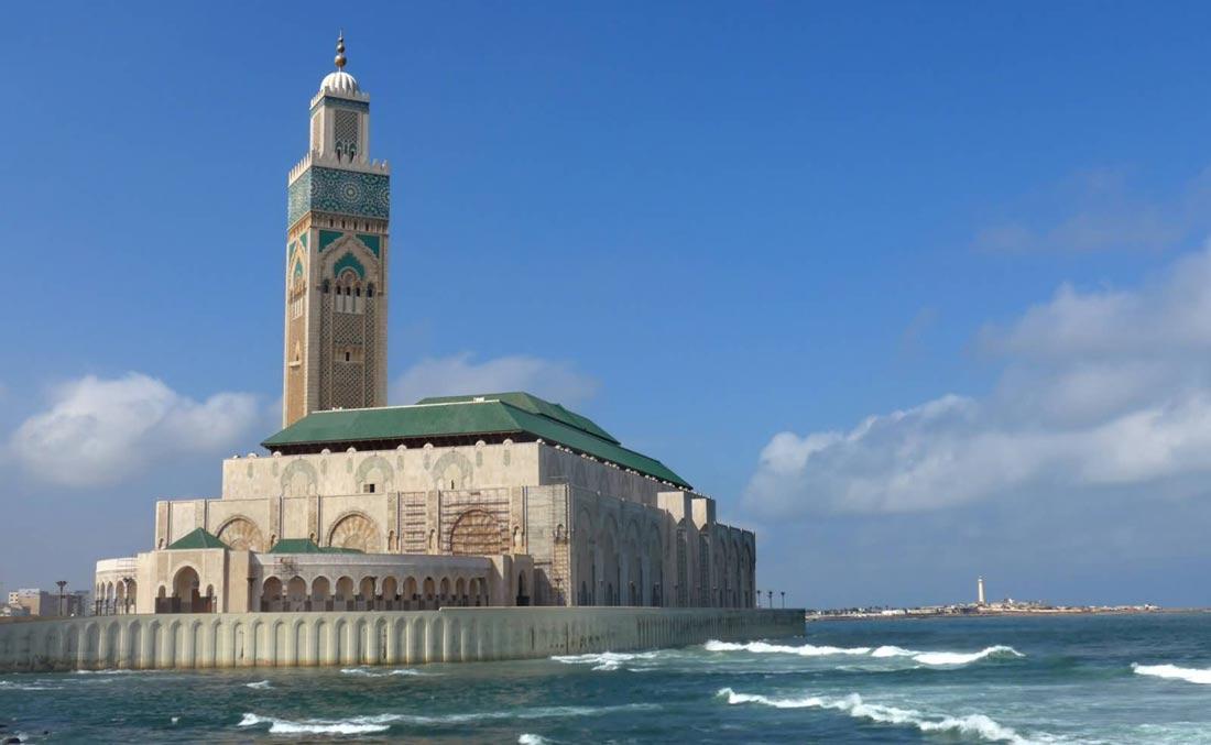 مسجد الحسن الثاني بالمغرب